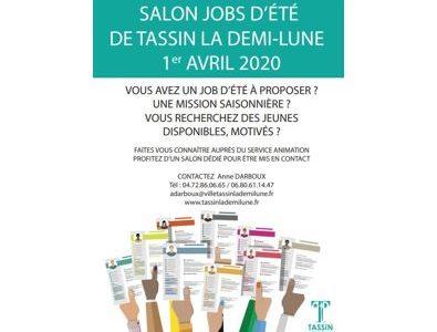 Photo principale de l'article Salon Job d'Eté de Tassin la Demi-Lune – 1er avril 2020