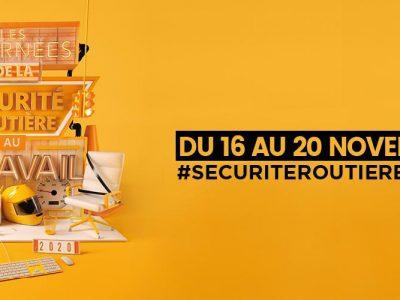 Photo principale de l'article Les journées de la Sécurité Routière au travail 16-20 novembre 2020